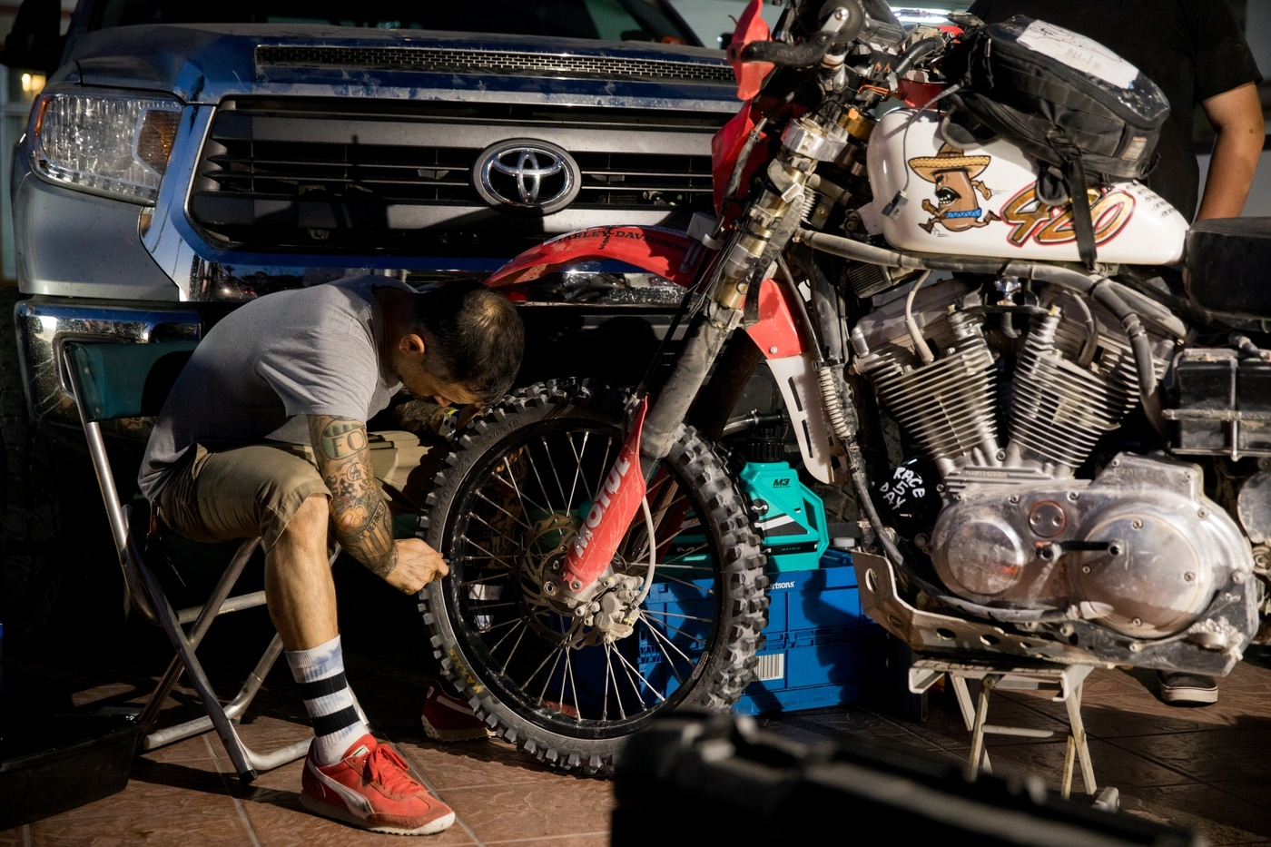 Biltwell's off-road proven Sportster   V-Twin Visionary