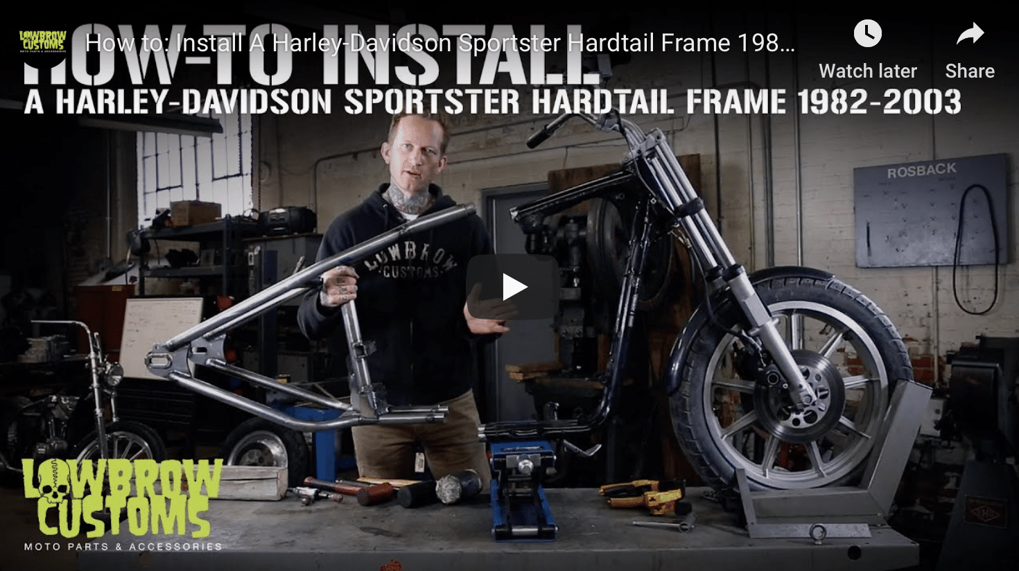Lowbrow Customs Sportster Hardtail Installation Video | V