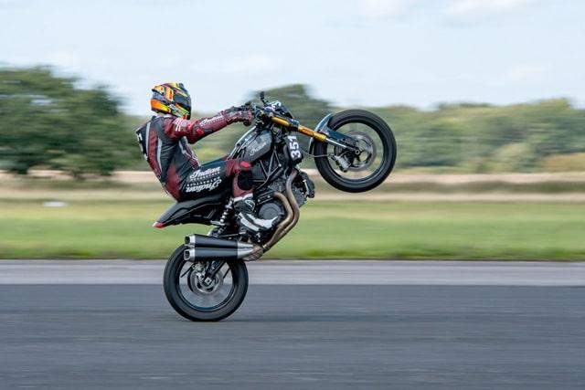indian ftr1200 wheelie
