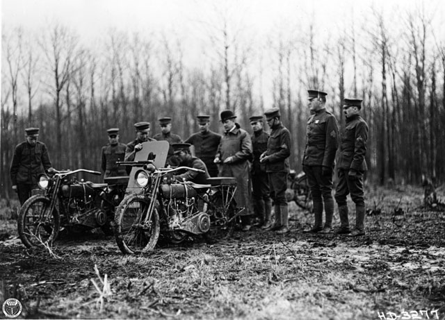 harley-davidson army bikes world war I