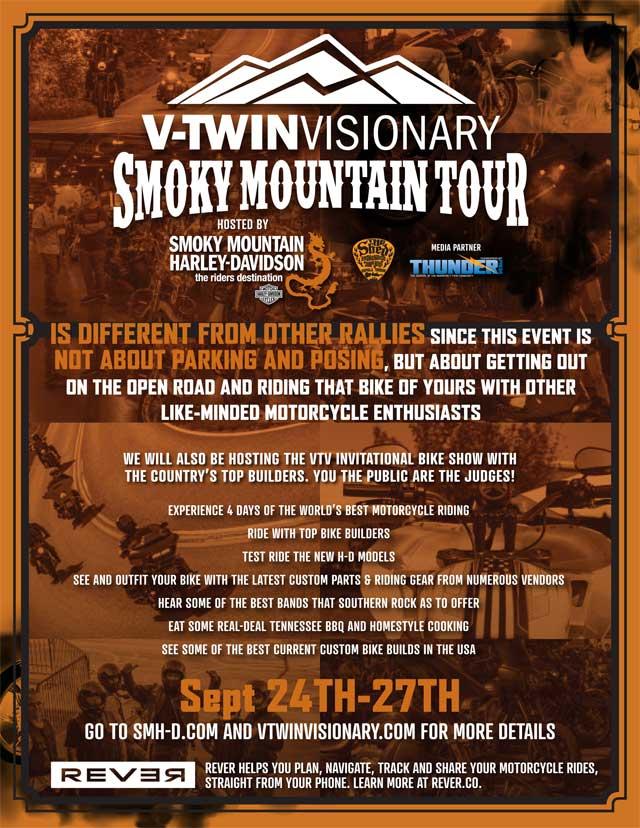 2020 vtwin visionary smoky mountain tour