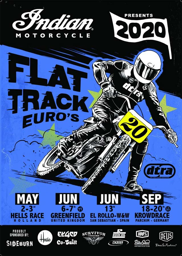 Indian Motorcycle flat track flyer