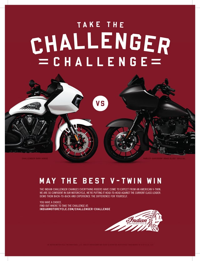 indian challenger vs harley road glide