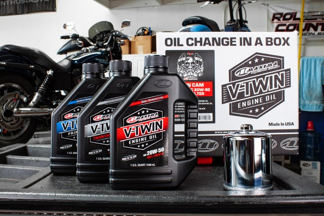 maxima racing oils vtwin oil change