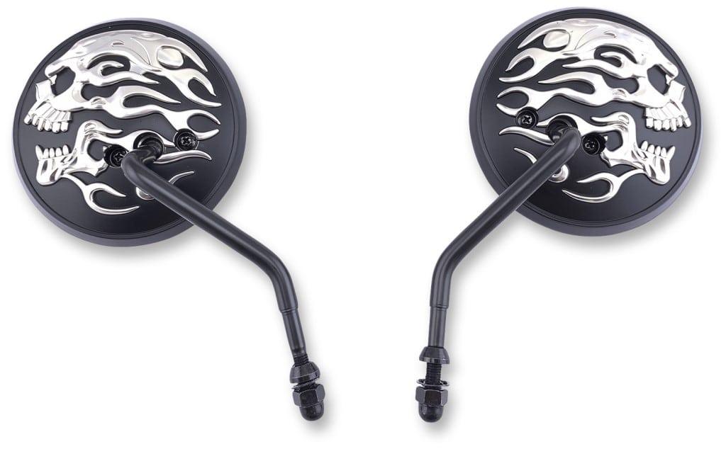 flaming skull mirrors