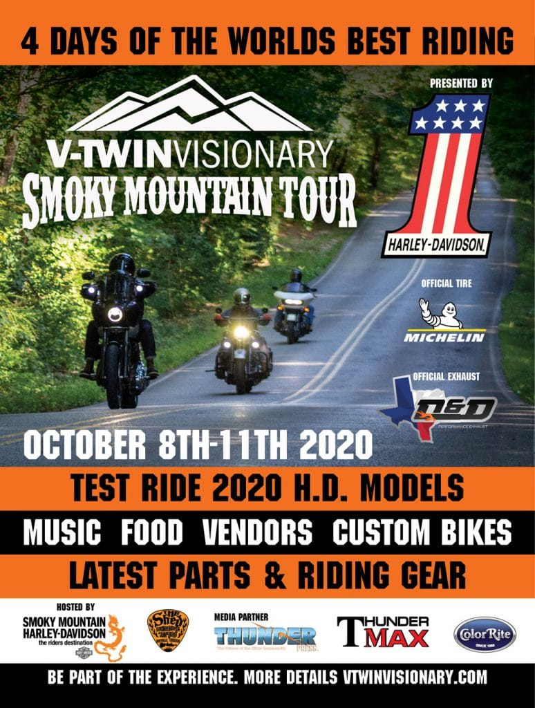 V-twin Visionary Smoky Mountain Tour