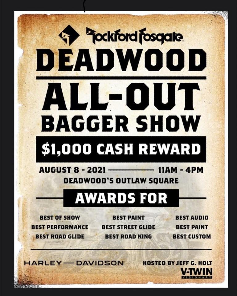 sturgis deadwood bagger show